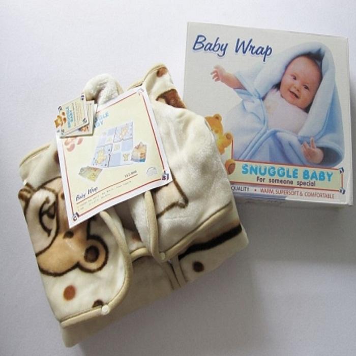 Baby Hooded Fleece Snuggle Wrap Sleeping Bag Ku Adeego Fadhiga Ku